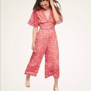 ANTHRO | NWT Elevenses Floral Cullotte Jumpsuit